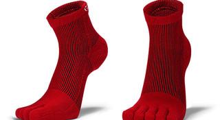 发热纱3D五指压缩袜