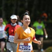 2015长春净月潭森林马拉松 比赛途中