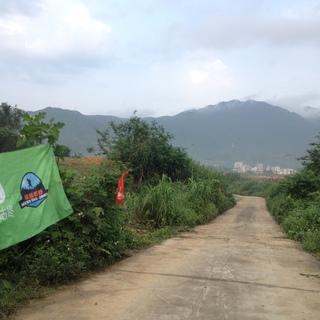 2016深圳越野白金30K水库公路下坡
