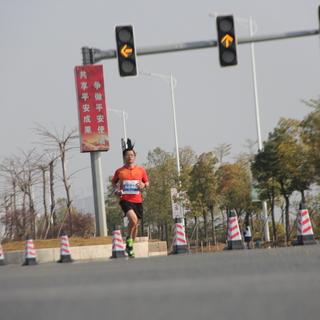 2017河源马拉松31km折返前200米