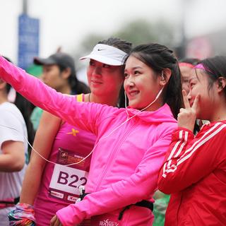 2015年上海女子马拉松部分美女照片
