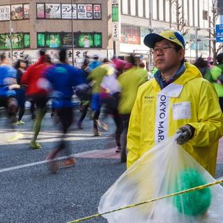 2016东京马拉松(起跑-3公里处)