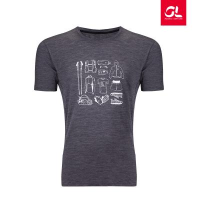 EDC羊毛速干短袖印花T恤