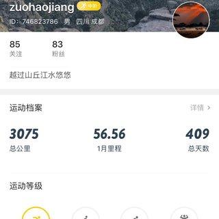 zuohaojiang(2019希望能被选中参加城马)