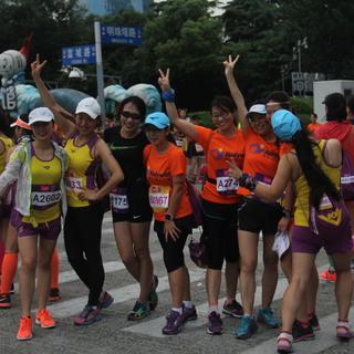 2016上海女子半马,12.5km18km起点终点