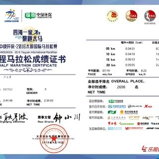 2016太原国际马拉松赛