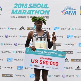 2019首尔国际马拉松赛事照片